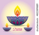 diwali or deepavali greeting... | Shutterstock .eps vector #482289889