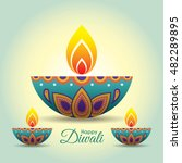 diwali or deepavali greeting... | Shutterstock .eps vector #482289895