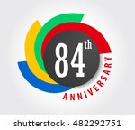 84th anniversary celebration... | Shutterstock .eps vector #482292751