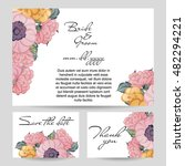 vintage delicate invitation... | Shutterstock .eps vector #482294221
