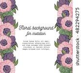 vintage delicate invitation... | Shutterstock .eps vector #482294275