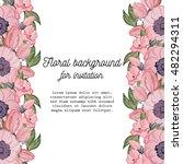 vintage delicate invitation... | Shutterstock .eps vector #482294311