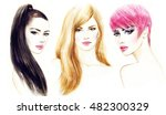 style woman portrait. abstract... | Shutterstock . vector #482300329