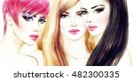 style woman portrait. abstract... | Shutterstock . vector #482300335