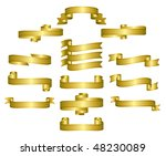 gold ribbon  scrolls  banners   ...   Shutterstock .eps vector #48230089