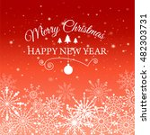 e card for happy new year and... | Shutterstock .eps vector #482303731