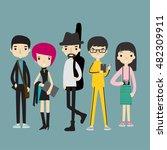 set of creative people ... | Shutterstock .eps vector #482309911