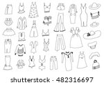 fashion hand drawn set | Shutterstock .eps vector #482316697