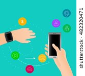 synchronization between smart... | Shutterstock .eps vector #482320471