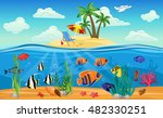 colored underwater world... | Shutterstock .eps vector #482330251