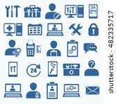 tech service logo. support...