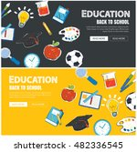 education banner and back to... | Shutterstock .eps vector #482336545