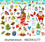 big set of christmas items.... | Shutterstock . vector #482341177