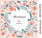 floral cards. hands drawn... | Shutterstock .eps vector #482341555