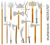 vector set of edged weapons.... | Shutterstock .eps vector #482351707