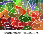 abstract geometric mosaic... | Shutterstock .eps vector #482353375