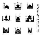 mosque  vector icons. simple... | Shutterstock .eps vector #482355421