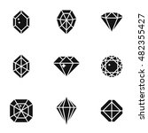 diamond vector icons. simple... | Shutterstock .eps vector #482355427