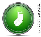 socks icon. internet button on... | Shutterstock . vector #482356684