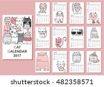 calendar 2017. cute cats for... | Shutterstock .eps vector #482358571