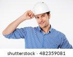 portrait of happy young man... | Shutterstock . vector #482359081