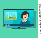 good tv news vector... | Shutterstock .eps vector #482367337