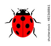ladybug small icon. red lady... | Shutterstock .eps vector #482368861