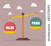 value and price balance on the... | Shutterstock .eps vector #482370091
