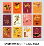halloween party invitation and... | Shutterstock .eps vector #482375065