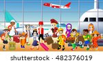 people from around the world... | Shutterstock .eps vector #482376019