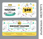 set of colorful gift vouchers... | Shutterstock .eps vector #482378971