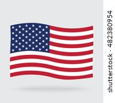 usa waving flag isolated on...   Shutterstock . vector #482380954