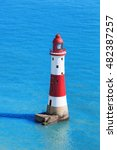 beachy head lighthouse with... | Shutterstock . vector #482387257