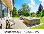 backyard concrete floor patio... | Shutterstock . vector #482388499