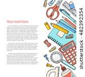 vector sketch back to school... | Shutterstock .eps vector #482392354