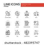 poker   modern plain line... | Shutterstock . vector #482395747
