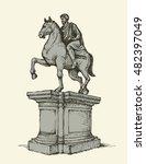 Historic Stone Statue Of Marc...