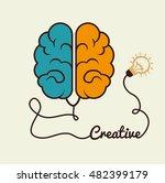 cartoon brain idea creative...   Shutterstock .eps vector #482399179