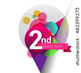 2nd anniversary logo  colorful... | Shutterstock .eps vector #482399275