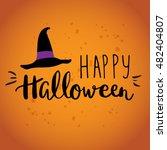 cute halloween invitation or... | Shutterstock .eps vector #482404807