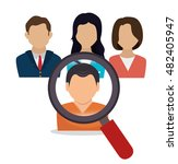 human resources search hired... | Shutterstock .eps vector #482405947