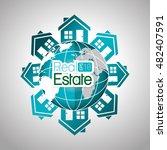 real estate globe house... | Shutterstock .eps vector #482407591