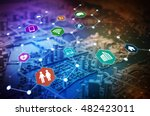 internet of things iot  concept ... | Shutterstock . vector #482423011