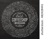 chalkboard vector hand drawn... | Shutterstock .eps vector #482428441