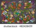 colorful vector hand drawn... | Shutterstock .eps vector #482428459