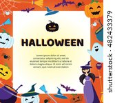 halloween concept banner with... | Shutterstock .eps vector #482433379