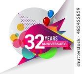 32 Years Anniversary Logo ...