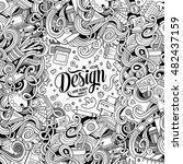 cartoon cute doodles hand drawn ... | Shutterstock .eps vector #482437159