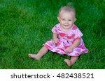 adorable beautiful newborn baby ... | Shutterstock . vector #482438521