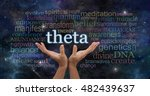 theta brainwaves meditation... | Shutterstock . vector #482439637